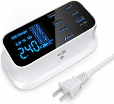 USB Charging Station 8 Ports PD 18W USB C Charger Multiple Desktop Chargers - $41.57