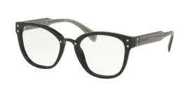 Miu Miu VMU 04Q 1AB-1O1 Eyeglasses Black Transparent Grey Frame 52mm - $188.09