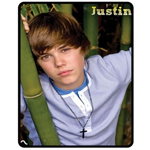 "NEW JUSTIN BIEBER  Custom Fleece Blanket 50""X60"" (Medium)"