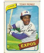 Tony Perez Baseball Card  # 125   - $2.95