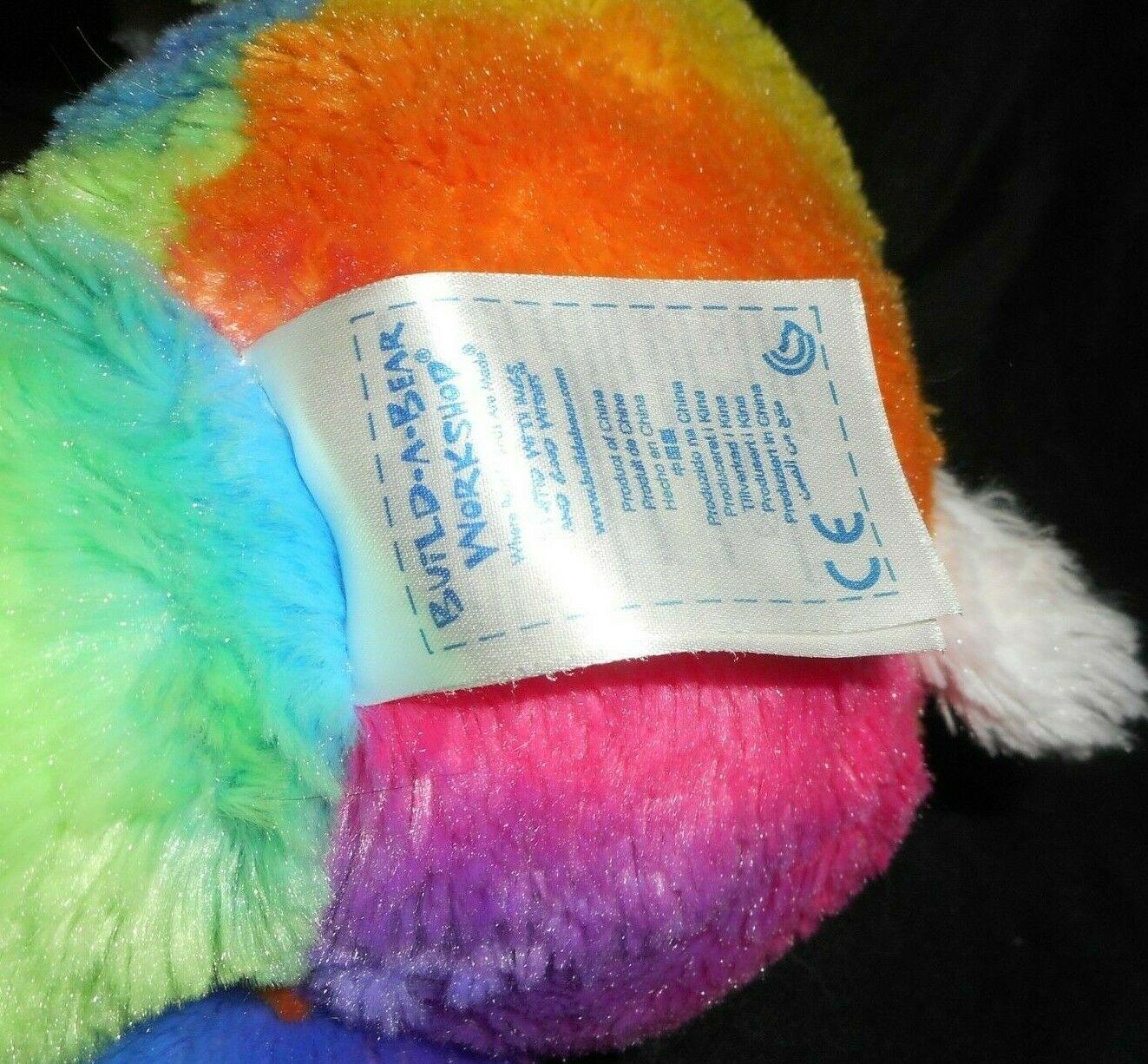 "18"" Build a Bear Pop Of Color Rosa Arcoiris Panda Osito Peluche Plush Toy image 5"
