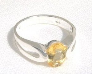 ccj Genuine CITRINE Ring 925 Sterling Silver Size 8.5 A85