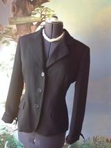 Anne Klein Suits Long Sleeve Black Pinstripe Suit Jacket Blazer SZ 10 - $32.17