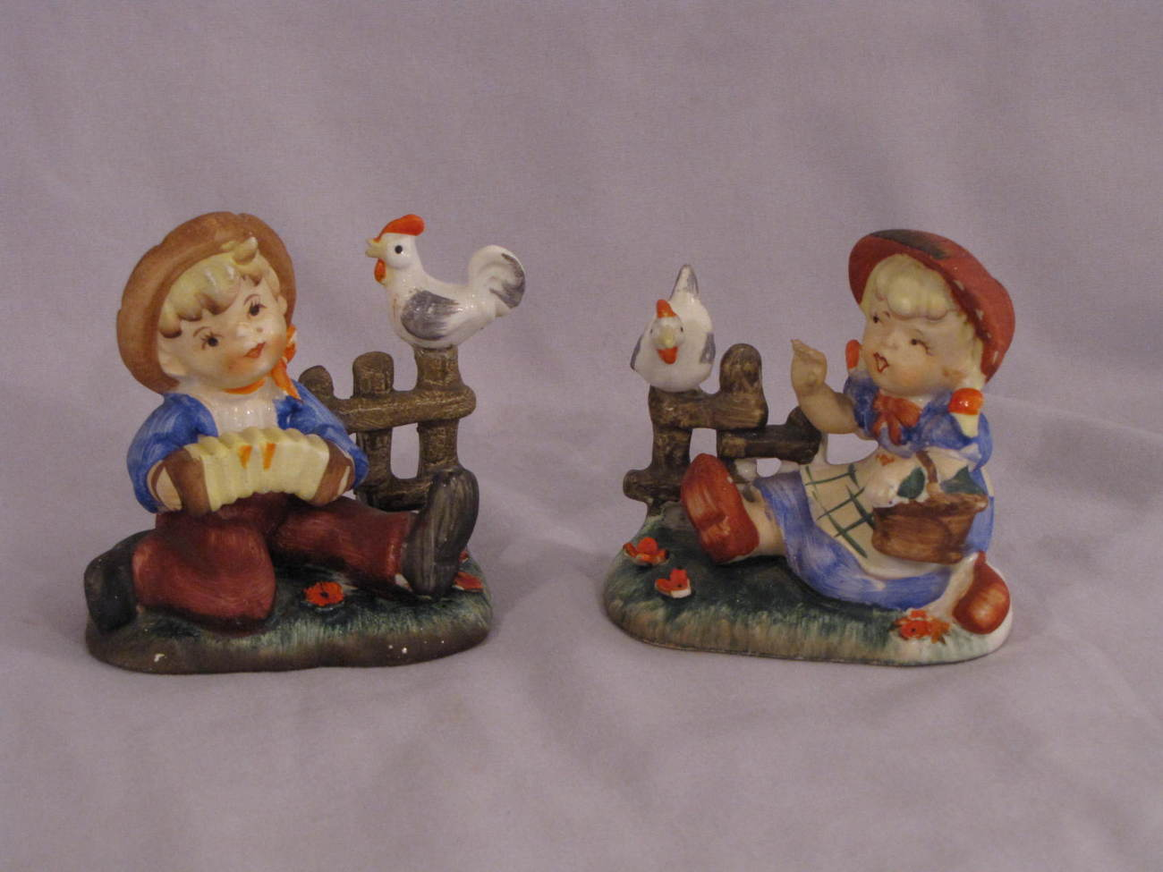 Lipper & Mann Vintage Boy & Girl Figurines Japan