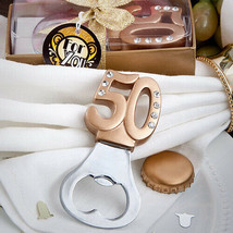 50th Design Bottle Openers Pack of 12 Anniversary Party Favors - $43.17