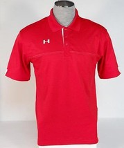 Under Armour Loose Fit Moisture Wicking Red Short Sleeve Polo Shirt Men's NWT - $59.99