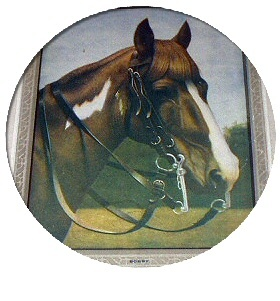 1915 Brown Horse-BOBBY-Signed Calendar Artwork
