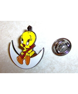 Tweety Bird Sitting on Moon Playing Guitar Lapel Pin - $4.99