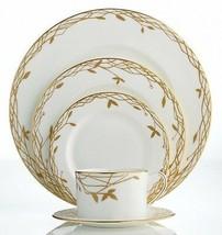 Kate Spade Primrose Hill 5 Piece Place Setting Dinnerware White/Gold New - $109.90