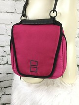 """Nintendo DS Pink Carrying Case Crossbody Utility Pockets 8"""" X 8"""" - $11.88"""