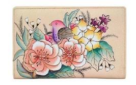Anna by Anuschka Two Fold Wallet, 1852, Vintage Garden, NWT - $52.00