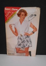New~Vintage 1987~See & Sew/Butterick #5571~Sz 14-16-18~Shorts/Blouse Pattern - $5.95