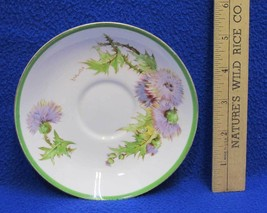 Royal Doulton Saucer Plate Signed P Curnock Bone China Glamis Thistle Fl... - $5.93