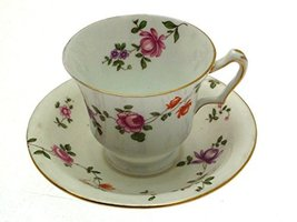 Crown Staffordshire 76594 Cup and Saucer Floral - $31.85
