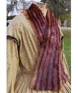 Civil War Dress Fur Wrap Mink Victorian Cape Collar Shawl w/ Vtg Cameo S... - $65.00