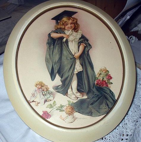 1903 MAUD HUMPHREY-Sweet Girl Graduating,Roses,Dollies Watch