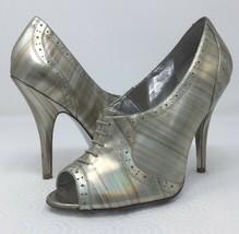 Jessica Simpson NICHOLA Metallic Booties heels Iridescent Patent leather 8.5 image 2