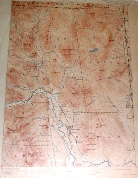 USGS Topographic Map, NH-ME, 1896/1904 , No. Conway Sheet