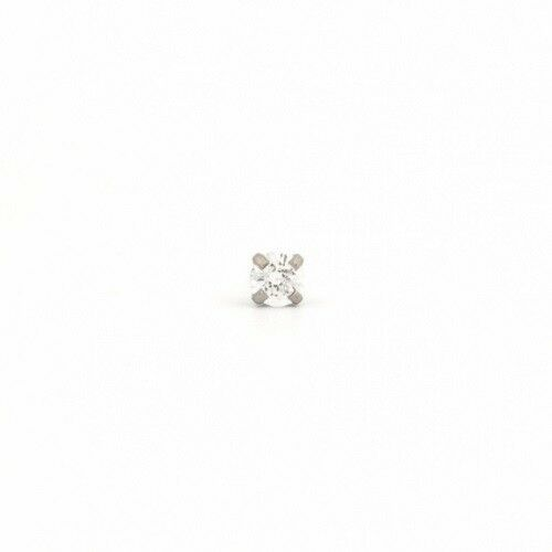 Primary image for 4x4 mm C/Z Princess Cut Stainless Ear Piercing Earrings Studex System 75