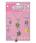 Girls Kid Jewelry Daily Seven Flower Charm Pend... - $12.00