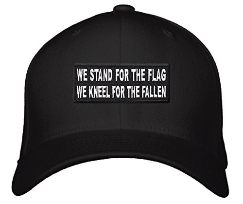 We Stand For The Flag We Kneel For The Fallen Hat - Adjustable Black Cap - Natio