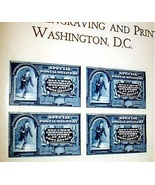MINT COLLECTION ENGRAVING-SPECIAL DELIVERY POSTAL STAMPS - $65.00