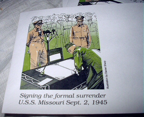 20 RARE Unaddressed Cachets-Signing Formal Surrender U.S.S.M