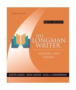 The Longman Writer: Rhetoric, Reader, Handbook - $45.00