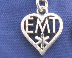 EMT HEART 18 Inch Necklace 925 Silver ccj N36