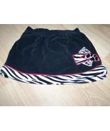Infant Size 12 Months Black White Zebra Animal Print Skirt Skort Velour ... - $9.00