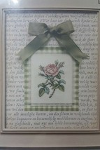 "Janlynn Pink Rose cross stitch kit with mat  fits 8"" x 10"" frame size #115556 - $19.95"
