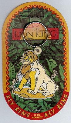 Disney Lion King Mufasa & Mate Key Chain rare