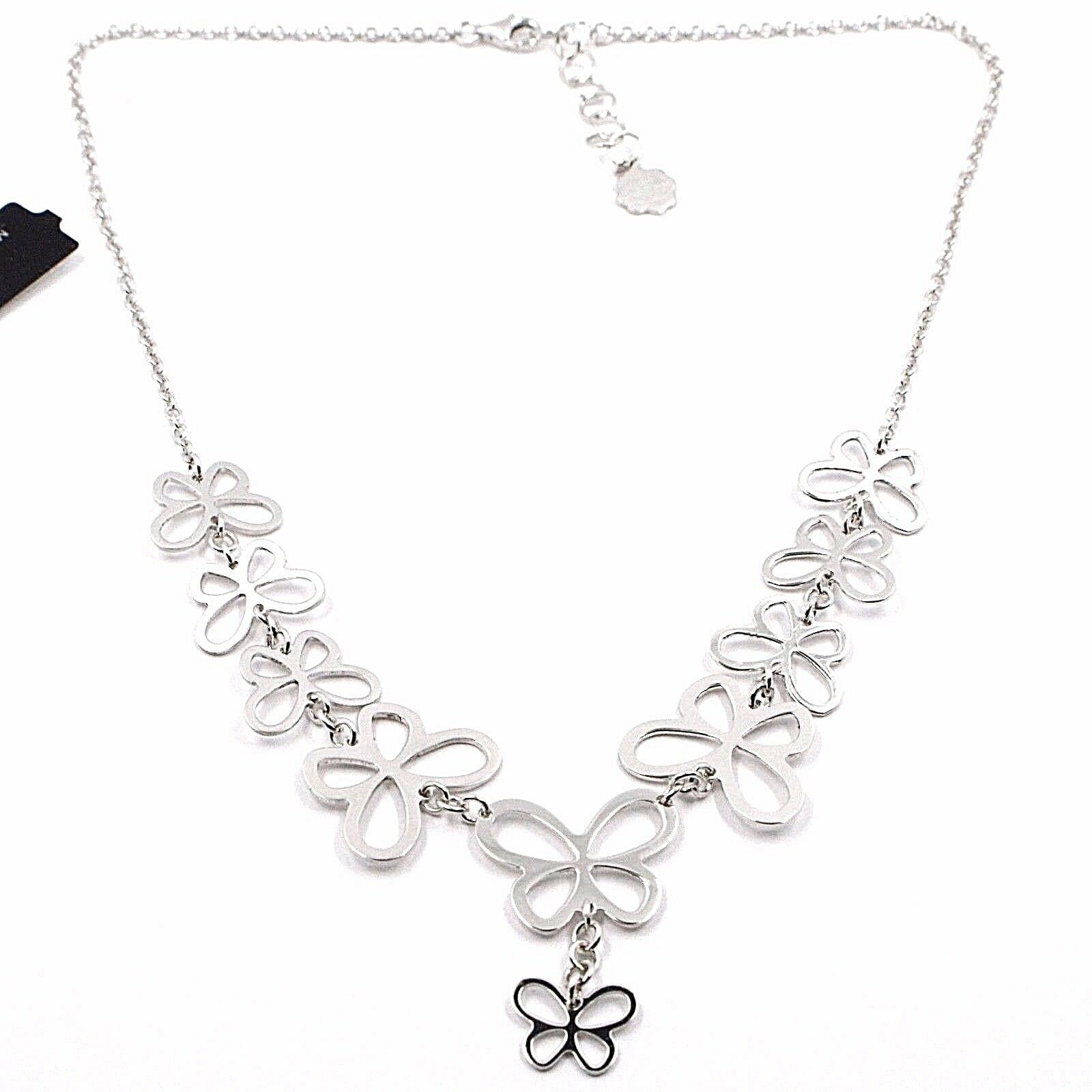 Silver 925 Necklace, Row of Butterflies, by Mary Jane Ielpo , Made in Italy