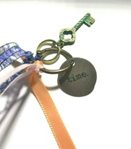 Time Charm Journal Key Chain Necklace Journals Mixed Media Crafts Bracelet  - $7.85