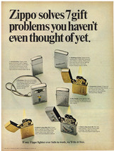 Vintage 1966 Magazine Ad For Zippo Lighter Gift Ideas And Puerto Rican Rum - $5.93