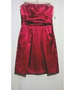 David's Bridal Maroon Strapless Ruched Waist Two-Pocket Dress Size 8 - $26.99