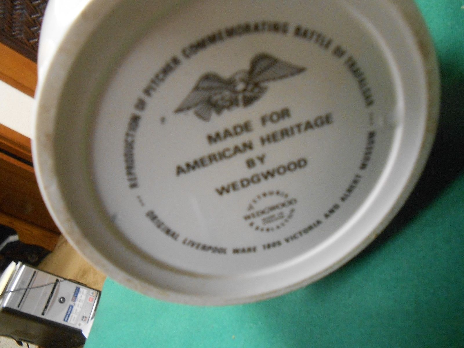 WEDGWOOD Pitcher-Made for American Heritage ADMIRAL LORD NELSON image 3