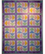 Pastel Big Geese Baby Quilt - $235.00