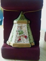 Villeroy & Boch CHRISTMAS CAROUSEL Teddy Bear on Skates Bell Christmas O... - $9.89