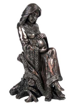 Beautiful Mother statue bronze cold cast resin - $47.99