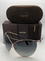 TOM FORD Sunglasses VERUSCHKA TF 220 28B 79-7 Gold & Black Frame w/Grey ... - $199.99