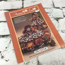 Fibre Craft Autumn Leaves Crochet Pattern Leaflet Doll Clothes Vintage 1989 - $9.89