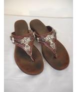 Brown Leather Flip Flop Sandal 6.5 M - $19.79