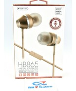 Sentry HB865 Metal Earbuds, In-Line Mic, Zippered Case - Rose Gold (NEW) - $14.80