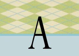 Monogram Argyle 4 Debit Credit Card Holder - $4.50