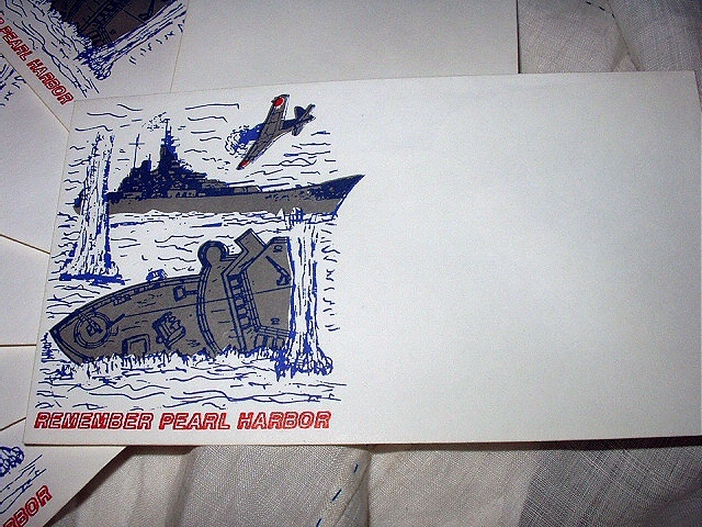 FDC unaddressed CACHETS- REMEMBER PEARL HARBOR-RARE!