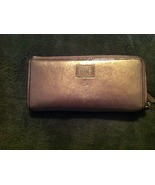 Coach Gold Zip Wallet - $25.00