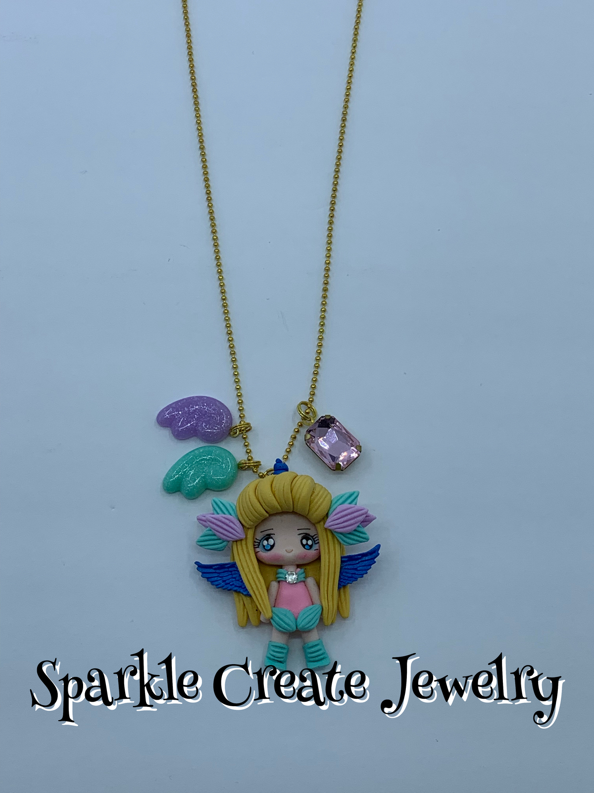 Unicorn Clay Charm Necklace