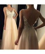 Lace Muslim Gold Evening Dress Long Formal Gown Prom Bride Dresses - $39.90