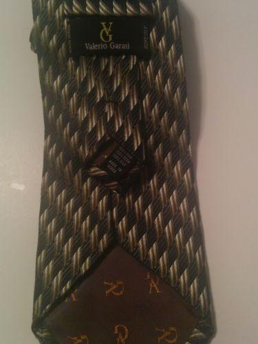 fbc2a9df621d Valerio Garati Mens Blue, Gold and White Pure Silk Hand Made Tie